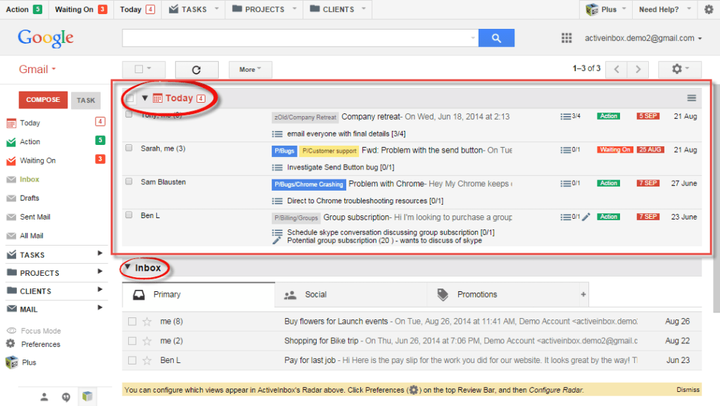 How to use Gmail as a time and project management tool